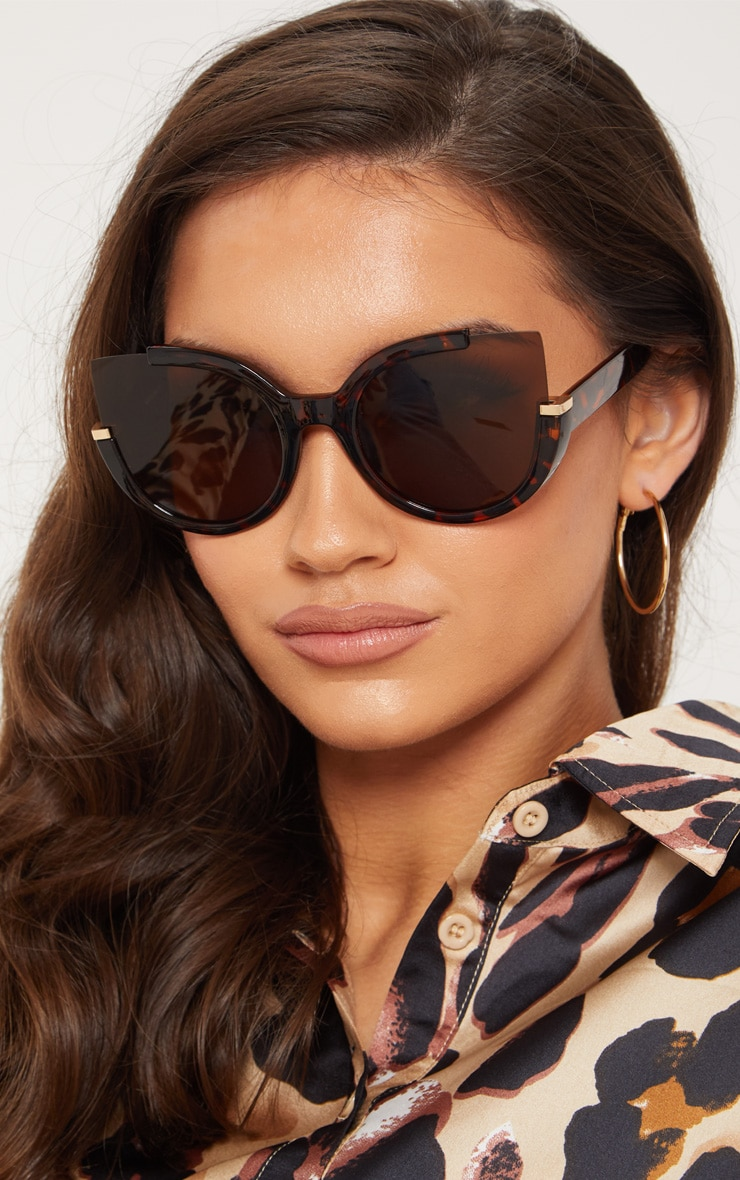 Tortoiseshell Large Cat Eye Sunglasses