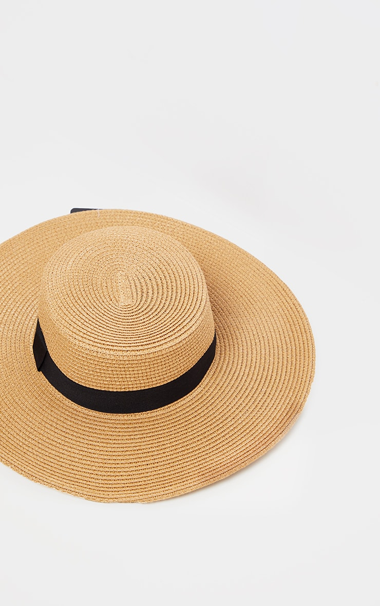 Tan Straw Sun Hat 2