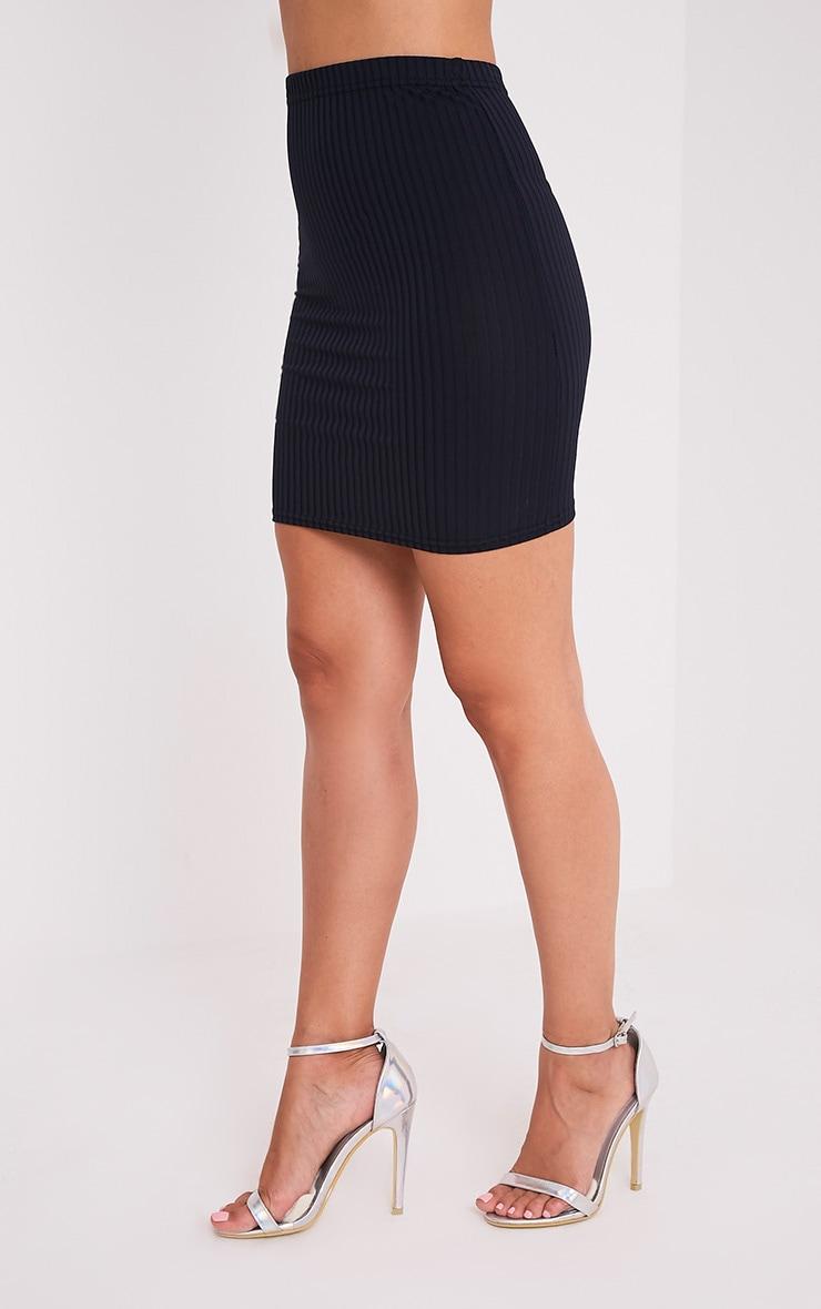 Kristine minijupe côtelée bleu marine 4