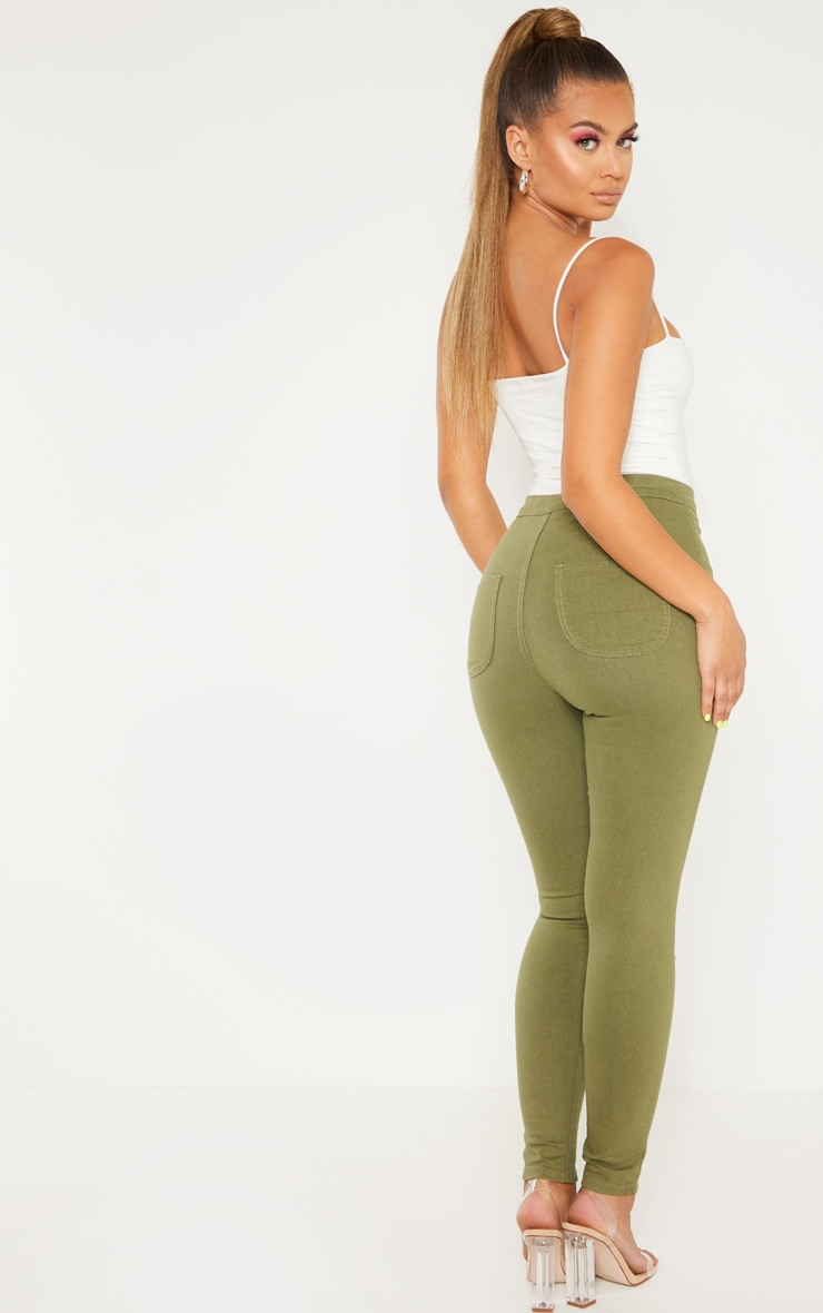 Khaki Denim Jegging 5