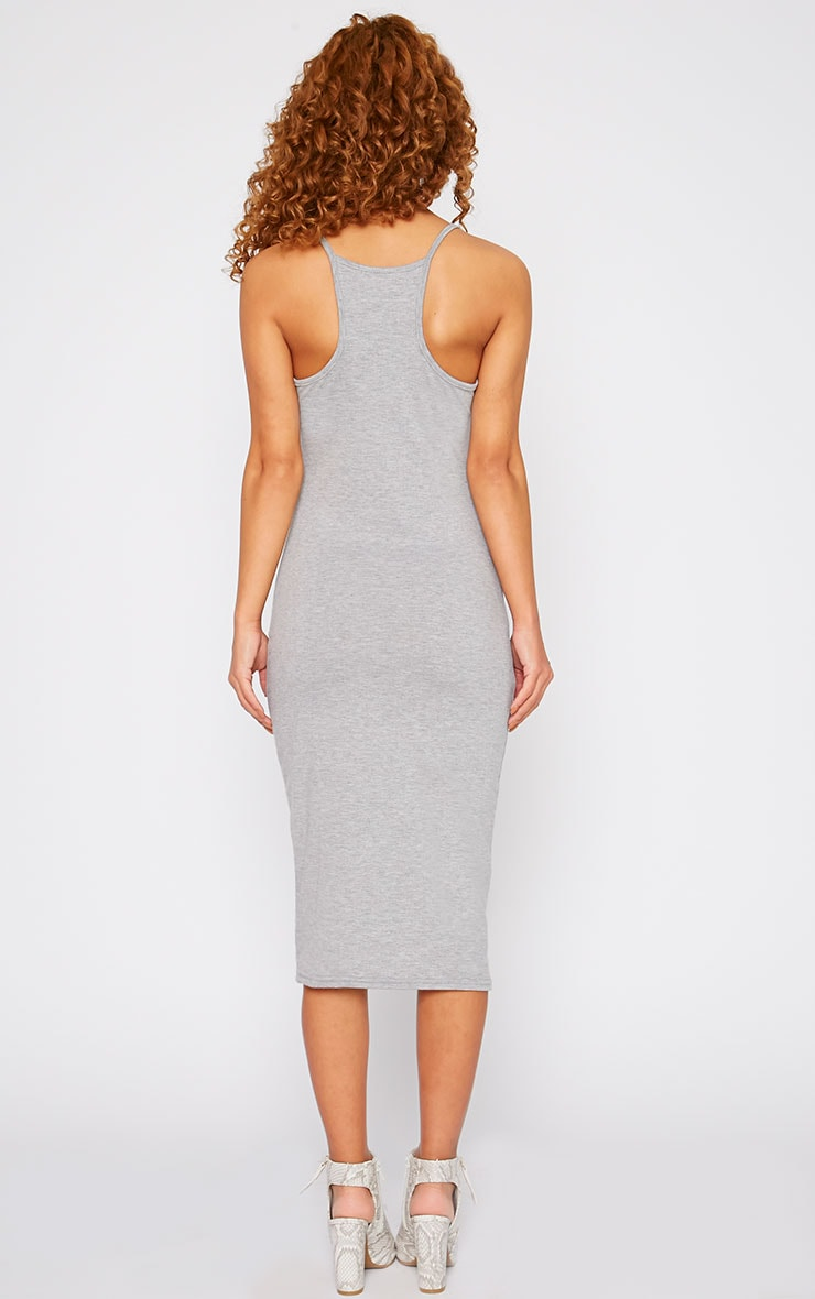 Basic Grey Midi Dress 2