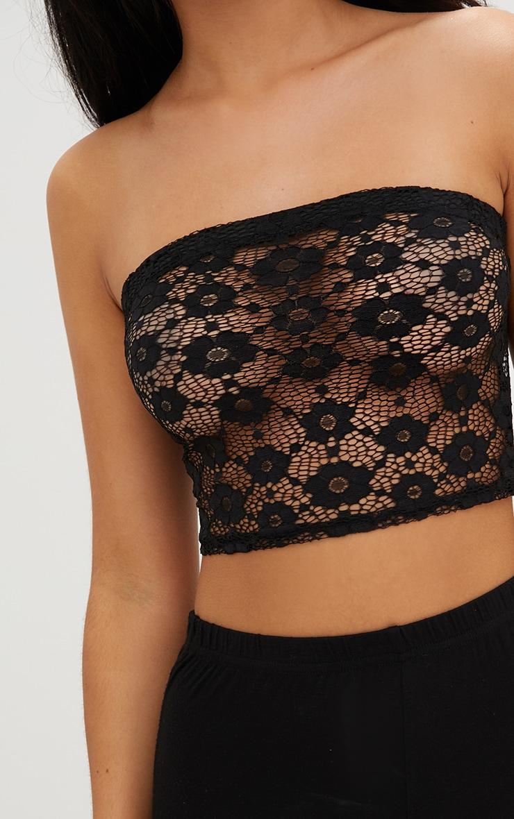 Black Lace Bandeau  4