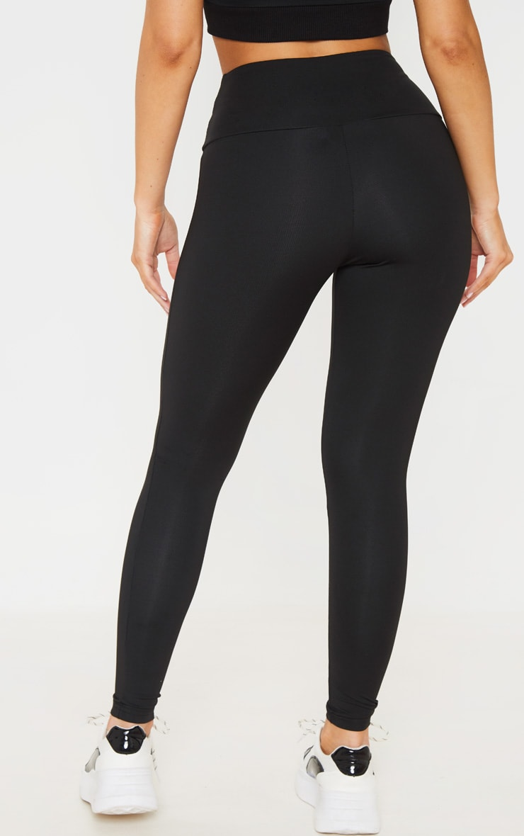 Black Corset Detail Leggings 3