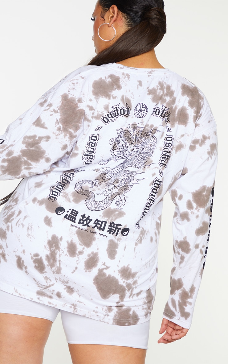 Plus Chocolate Tie Dye Tokyo Long Sleeve T-Shirt 4