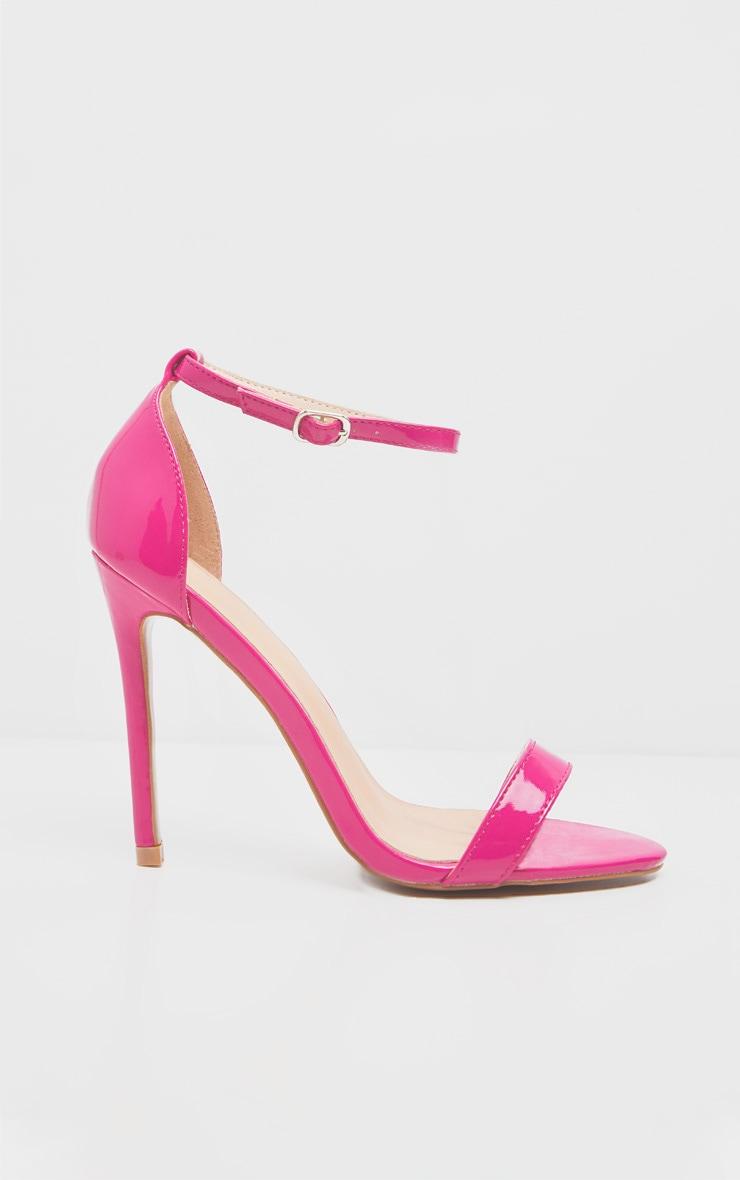 Fuchsia Clover Strap Heeled Sandal 3
