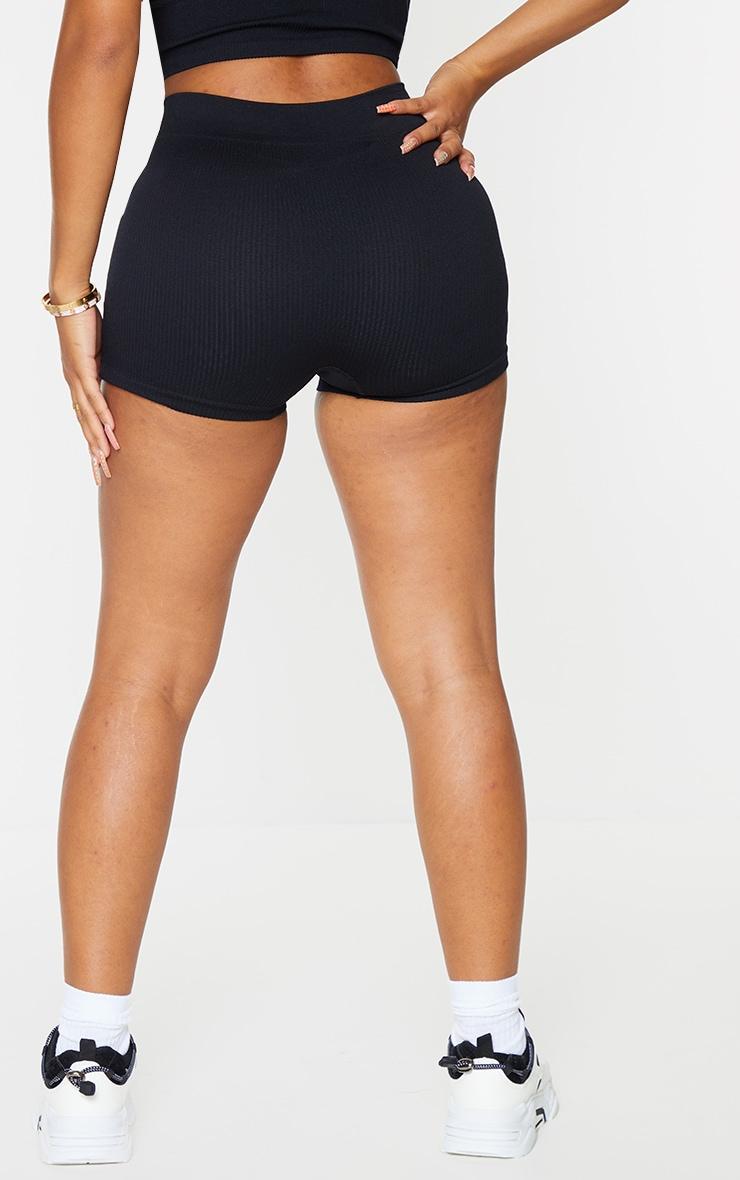 Shape Black Contour Rib Shorts 3