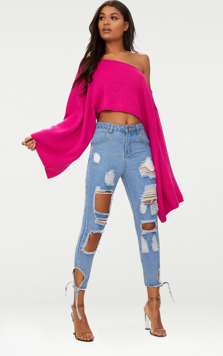 Pink Wide Sleeve Jumper 4