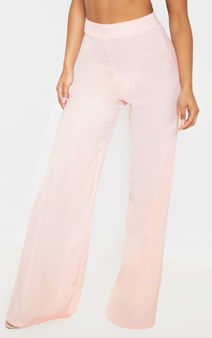 Elnie Baby Pink Wide Leg Suit Pants 2