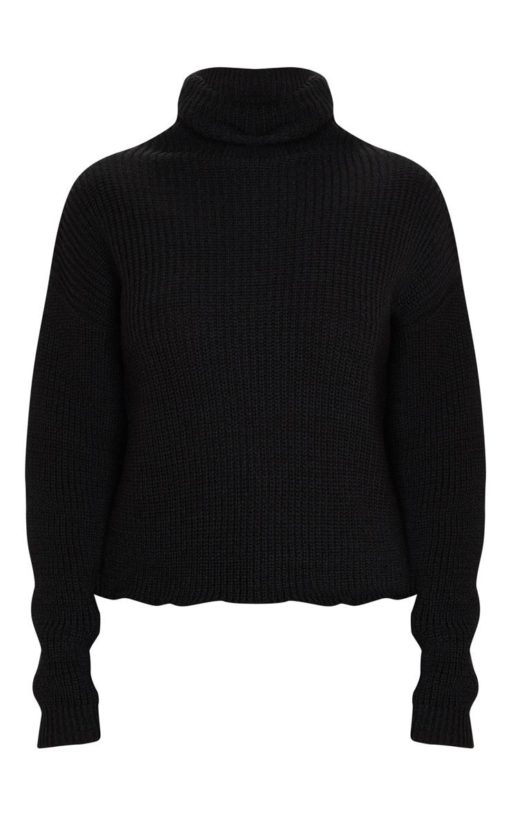 Black High Neck Sweater 5