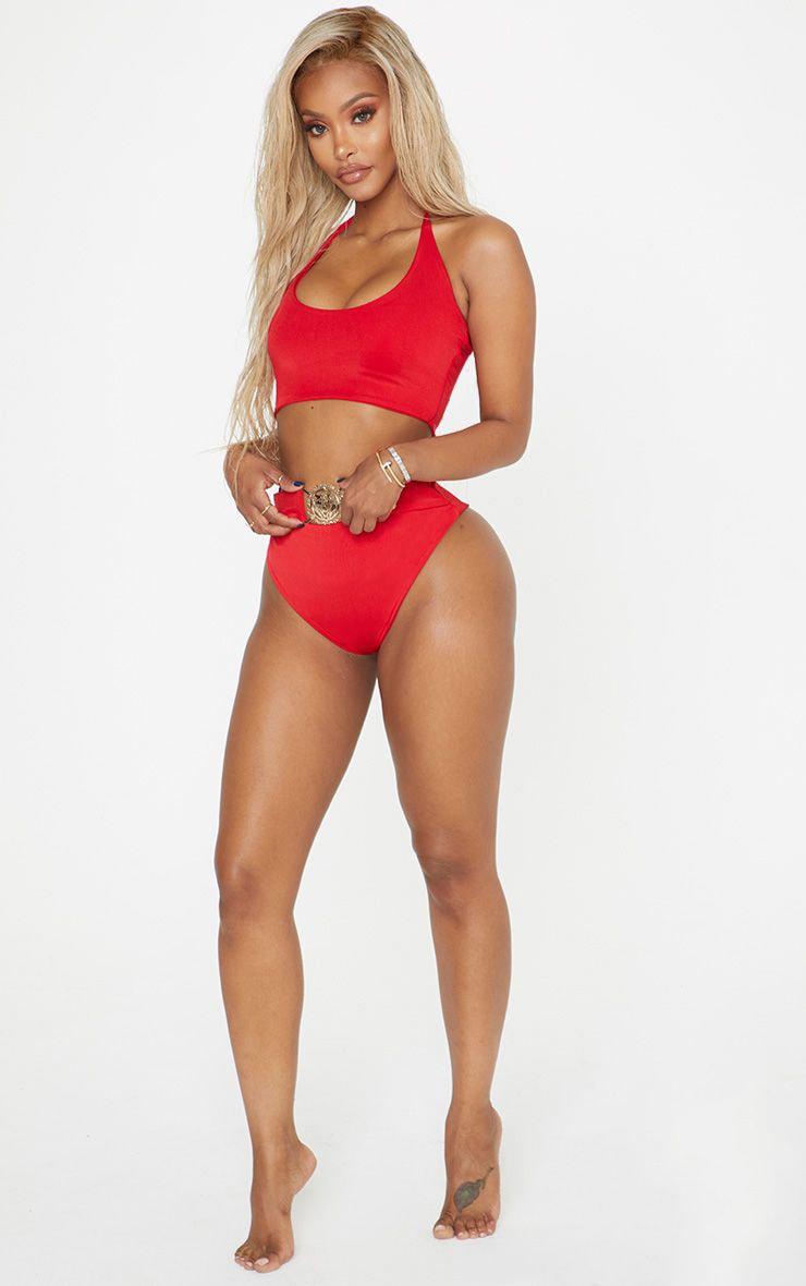 Shape Red Halterneck Bikini Top 1