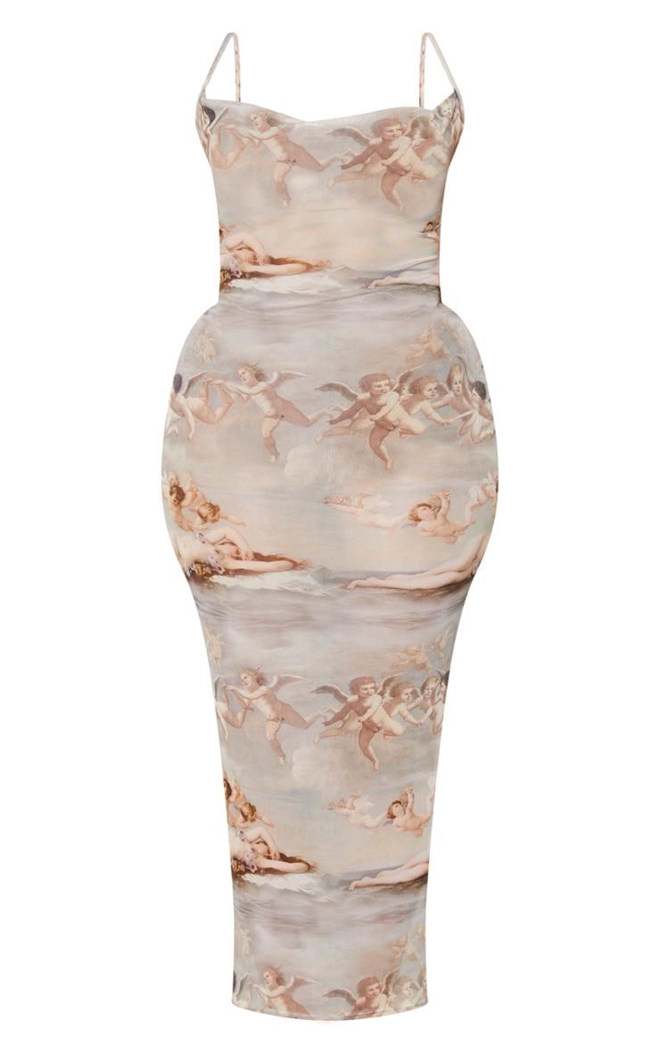 Plus Nude Renaissance Sheer Cowl Neck Maxi Dress 5