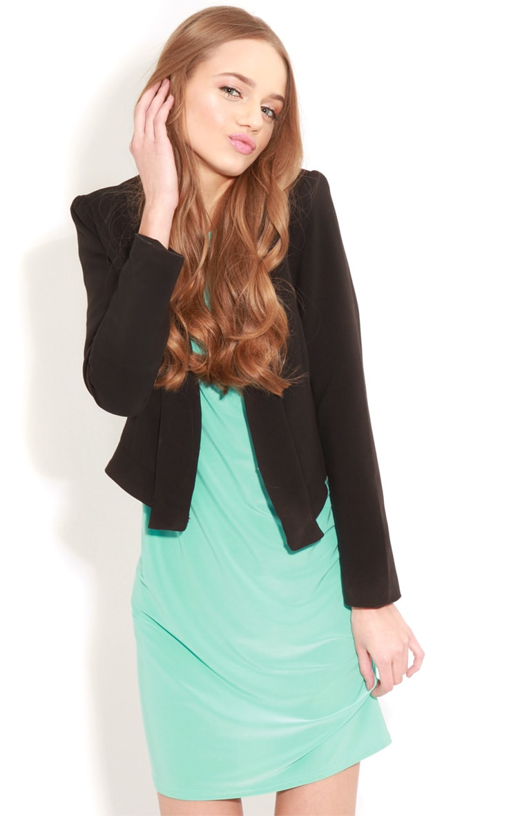 Ellen Turquoise Long Sleeved Swing Dress  4