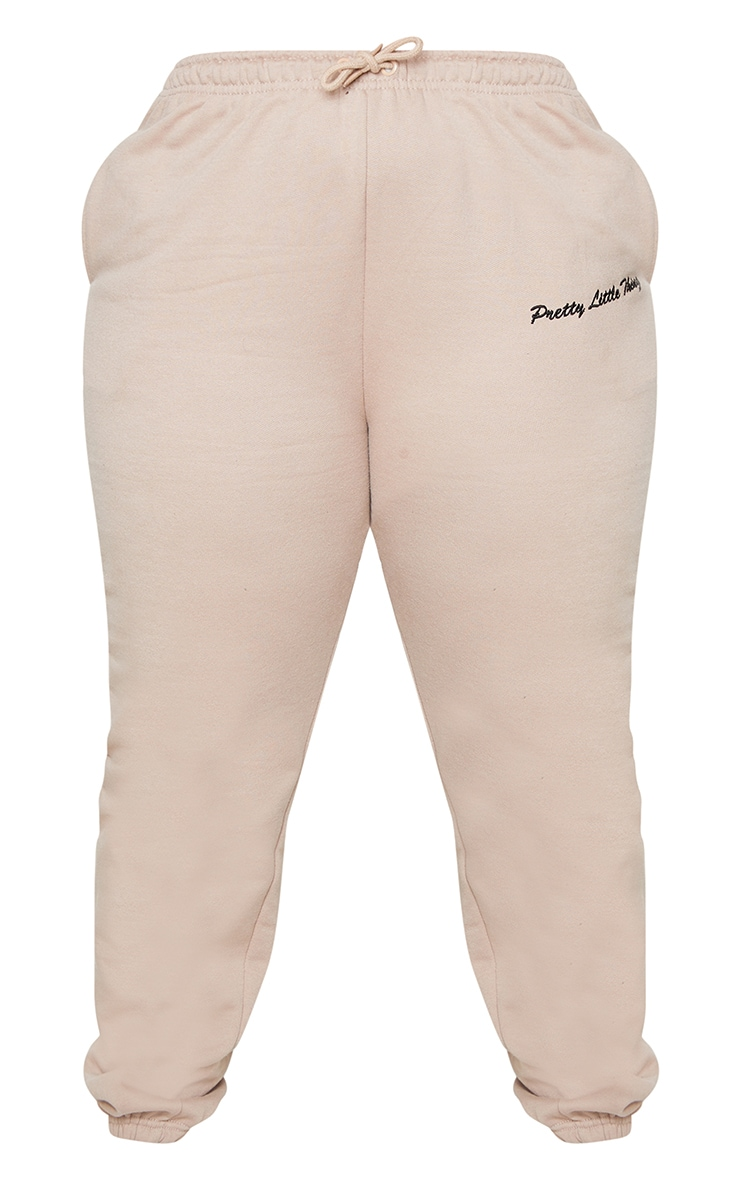 PRETTYLITTLETHING Plus Stone Embroidered Joggers 5