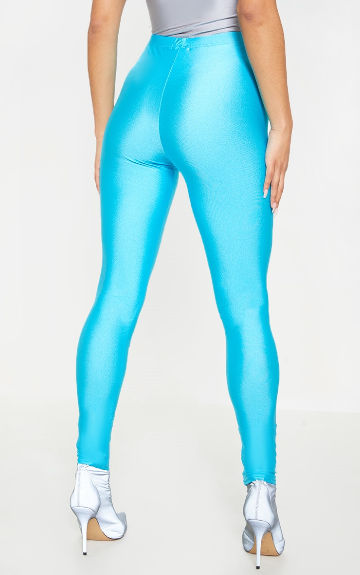 Blue Front Seam Disco Legging 4