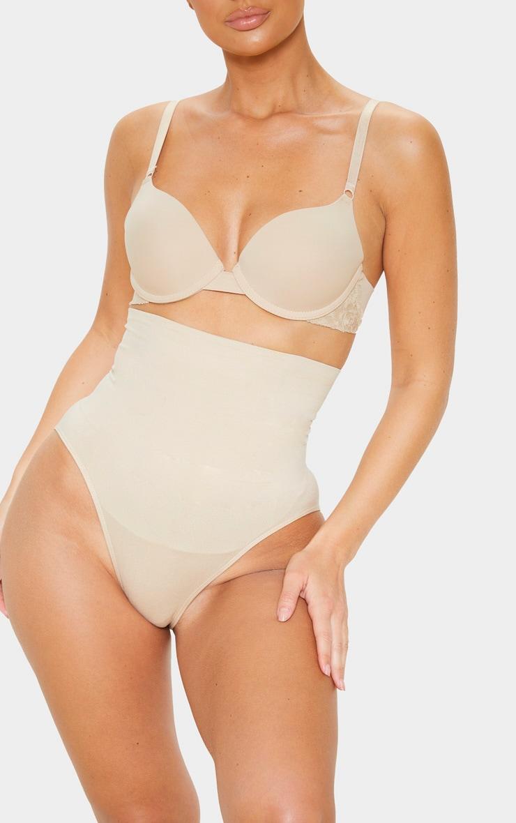 Nude Seamless High Waist Control Shapewear Brief 1