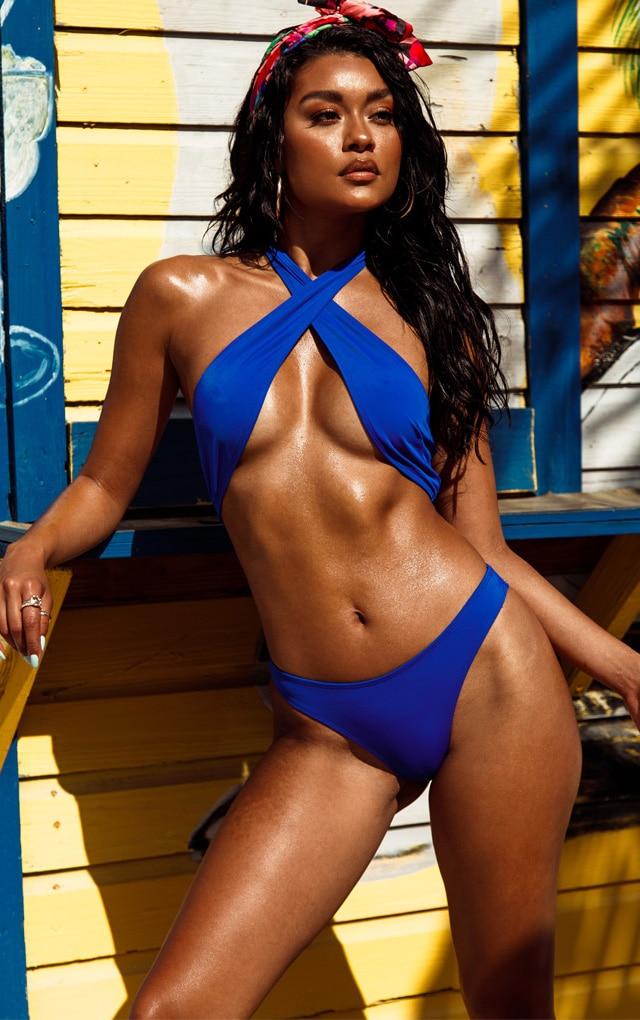 Cobalt Cross Over Halterneck Bikini Top 1