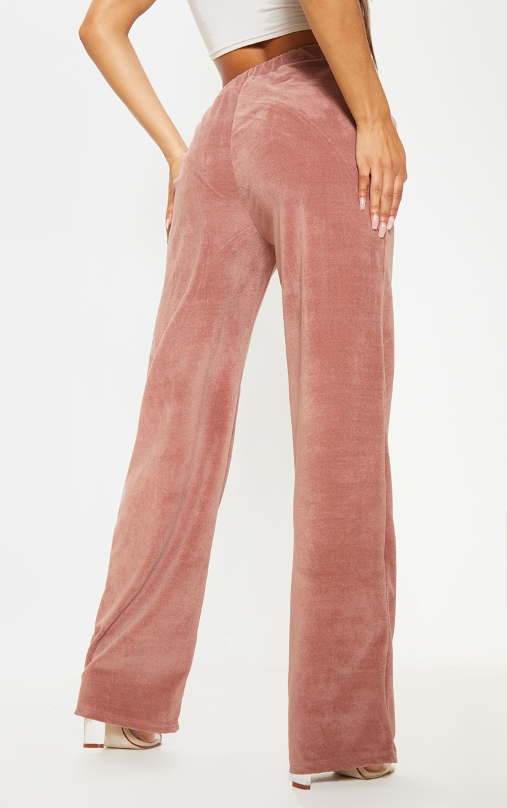 Rose Mix & Match Velour Wide Leg Trouser 4