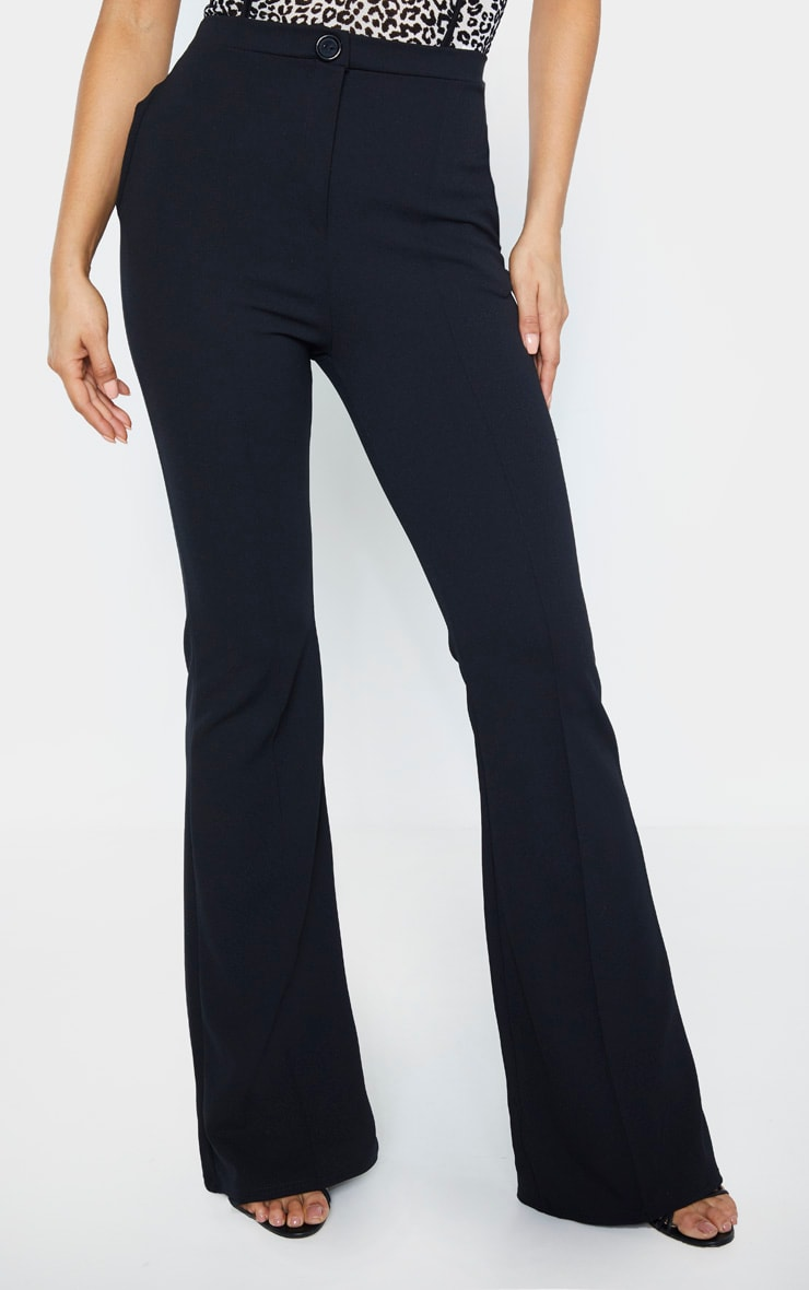 Tall Black  Pleat Detail Pants  2