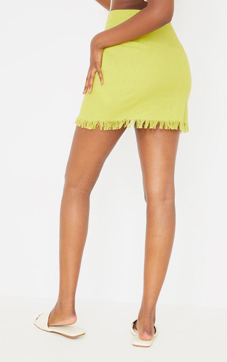 Lime Ring Detail Mini Skirt 3