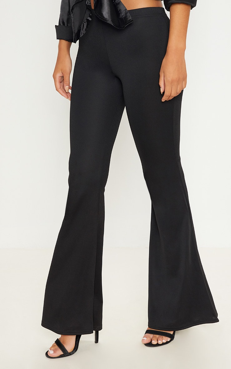 Black Ultimate Flared Trousers 2