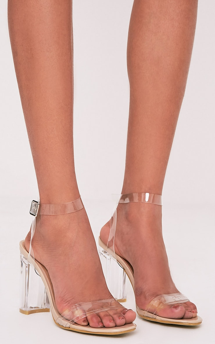 Sonia Clear Strap Heeled Sandals 1