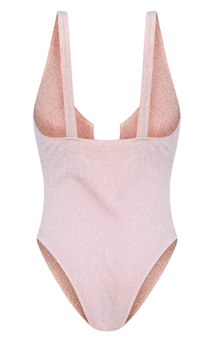 Pink Underwired High Leg Swimsuit 6