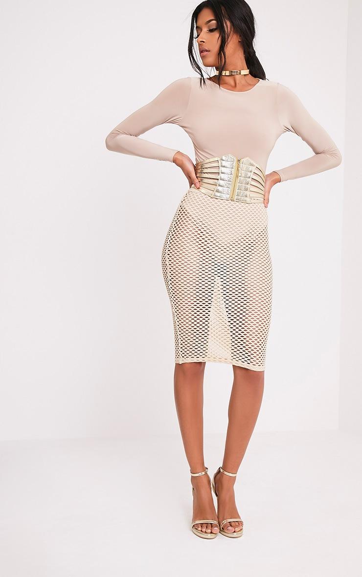 Kimie ceinture en corset à fermeture éclair dorée 6