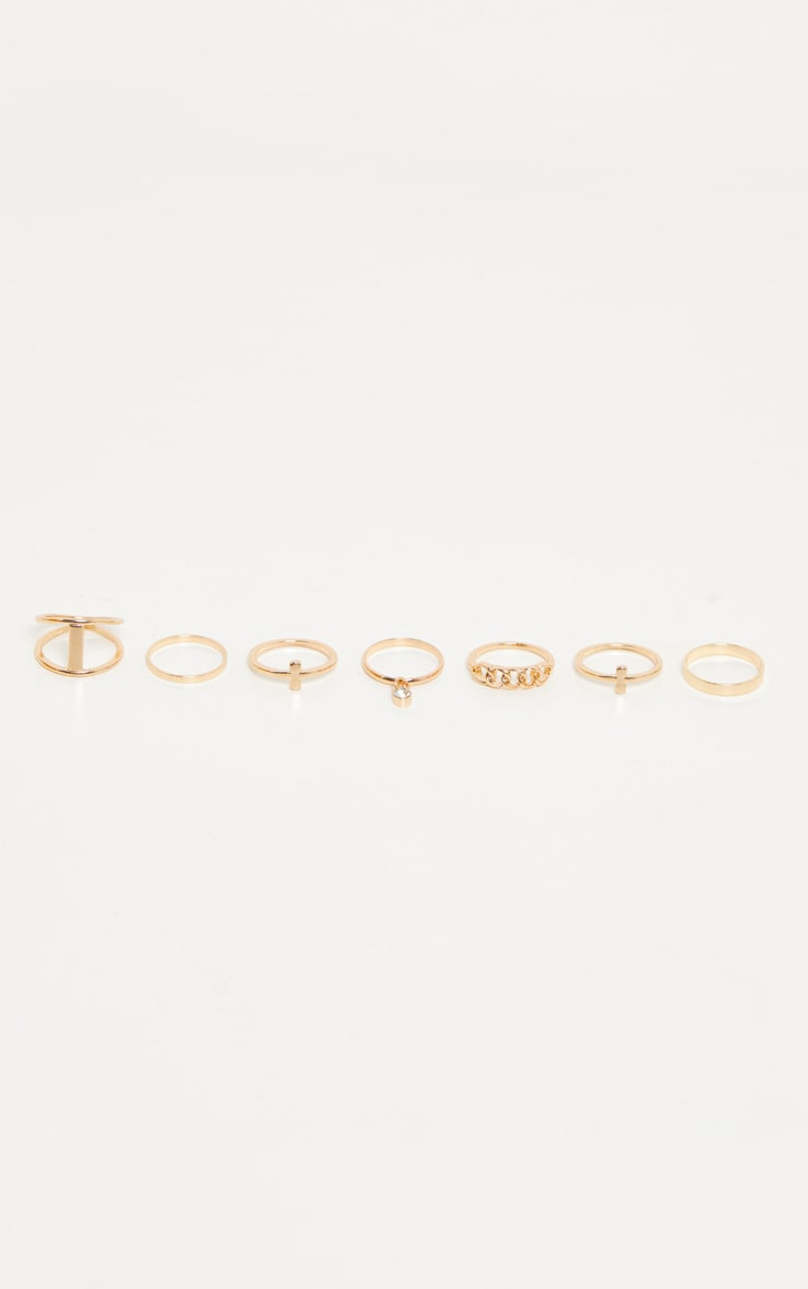 Gold Multi Pack Rings 2