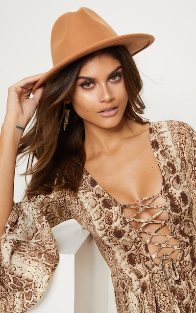 Tan Fedora Hat