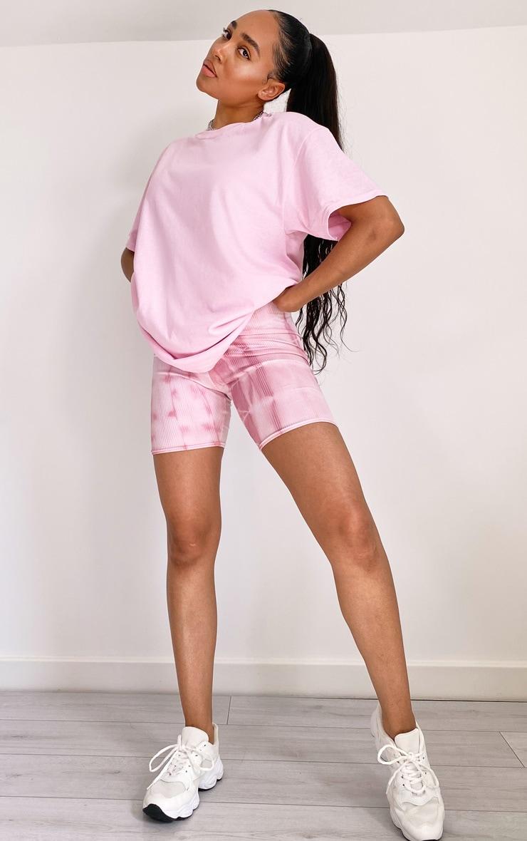 Baby Pink La Oversized T Shirt 2