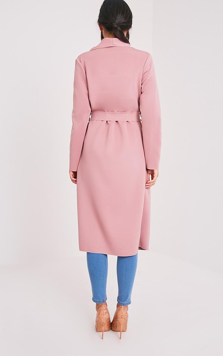 Paisie manteau effet cascade en néoprène rose 2