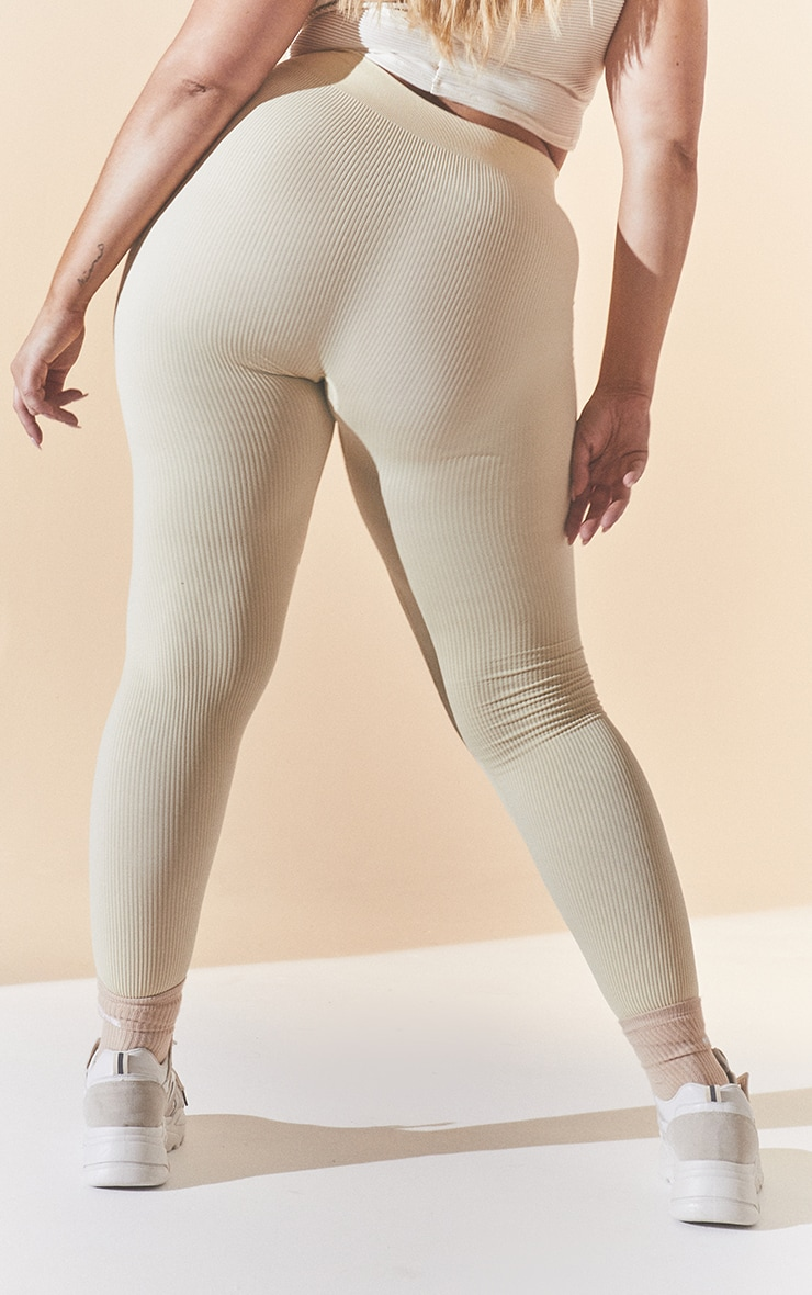 Plus Cream Contour Leggings 4