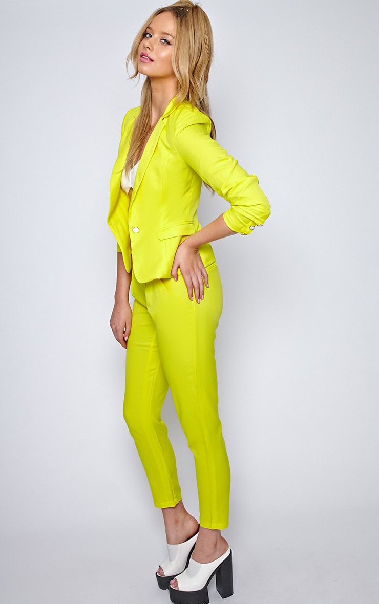 Ila Yellow Tailored Trouser And Blazer Suit Set 4