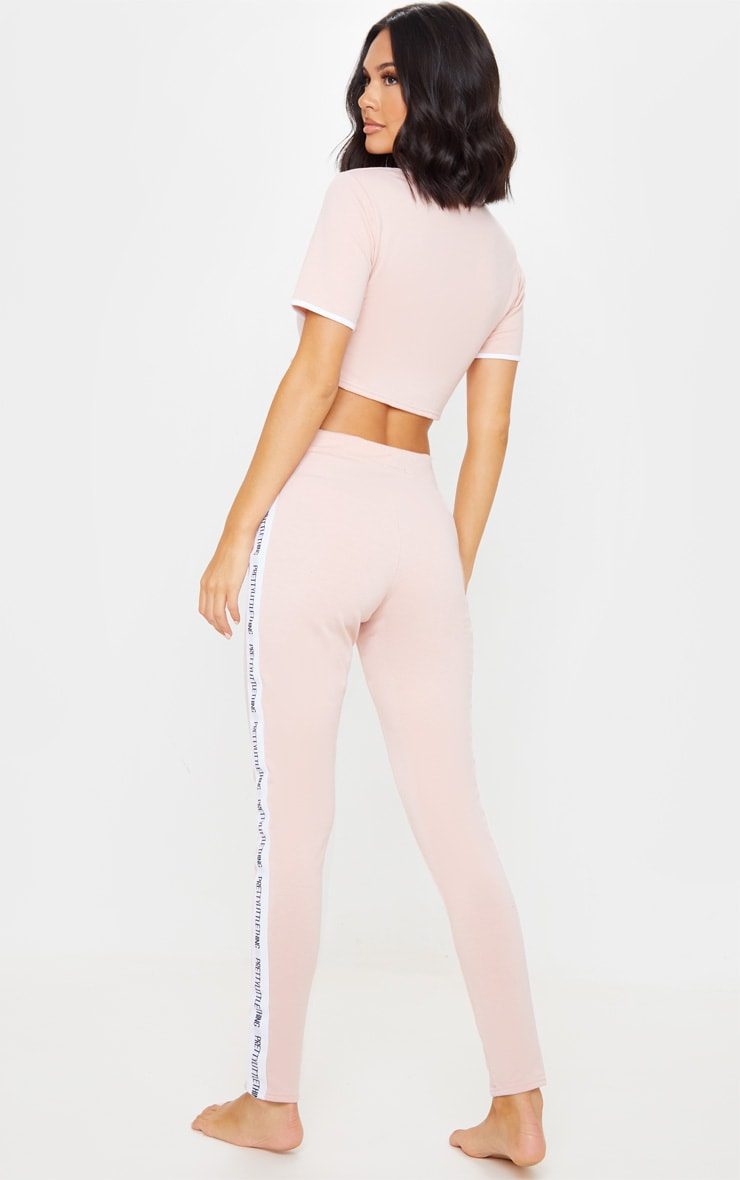PRETTYLITTLETHING Pink Long Pyjama Set 2