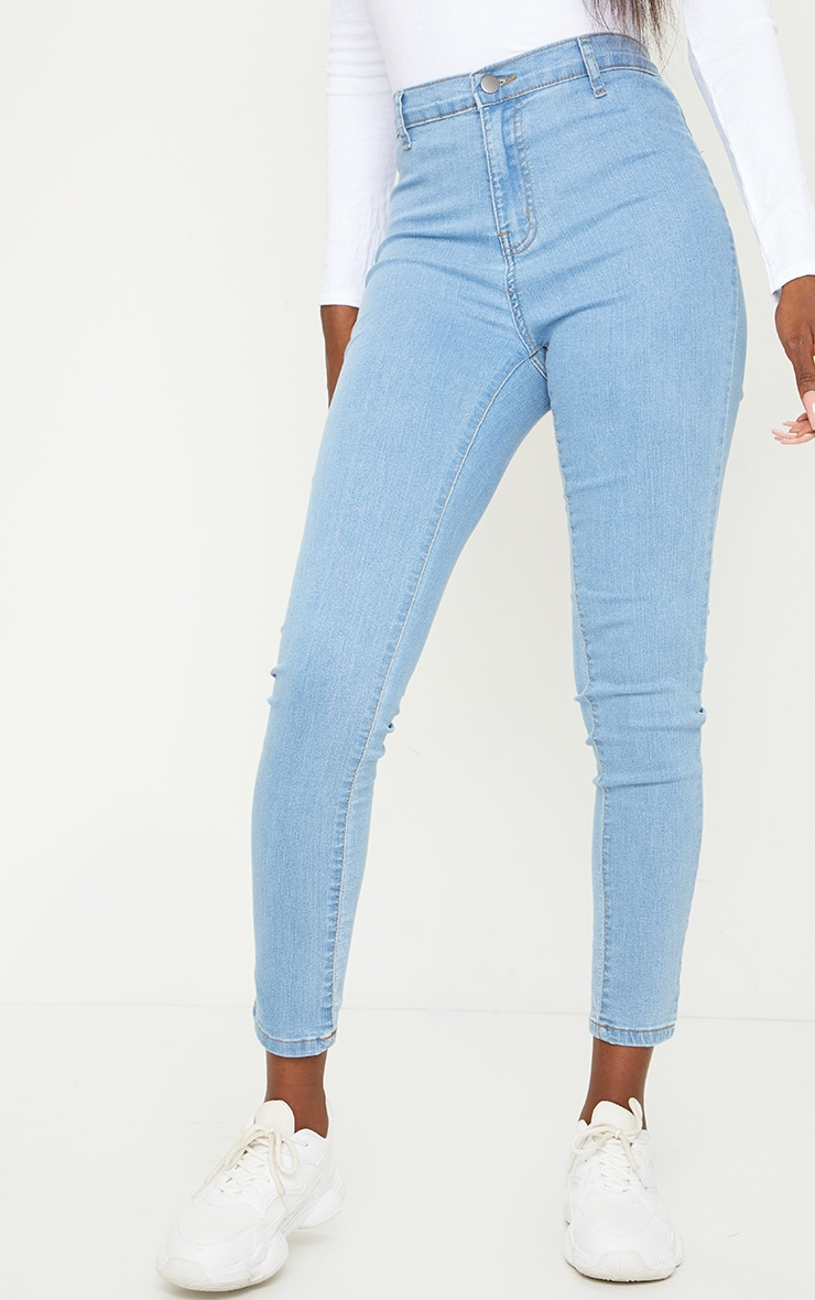 Tall Light Blue Wash Disco Fit Skinny Jeans 2