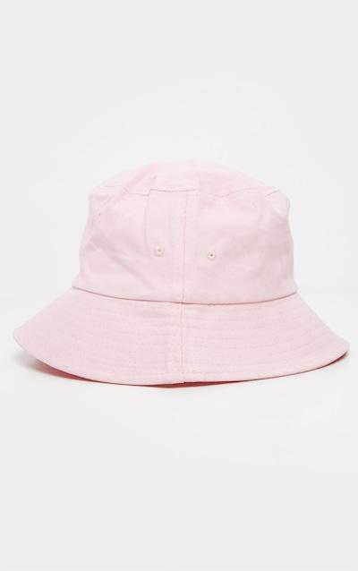 Pink Plain Bucket Hat
