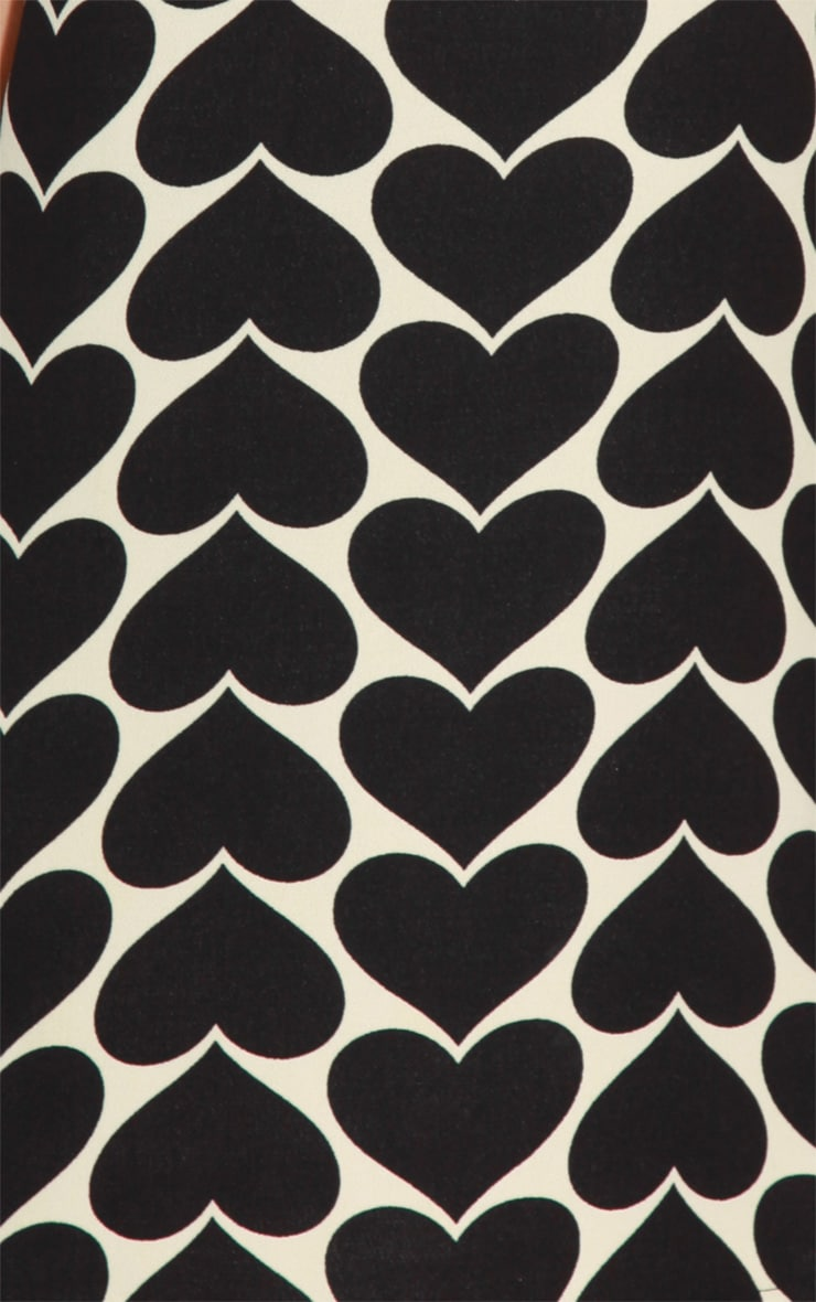 Maria Black & Cream Love Heart Dress 4