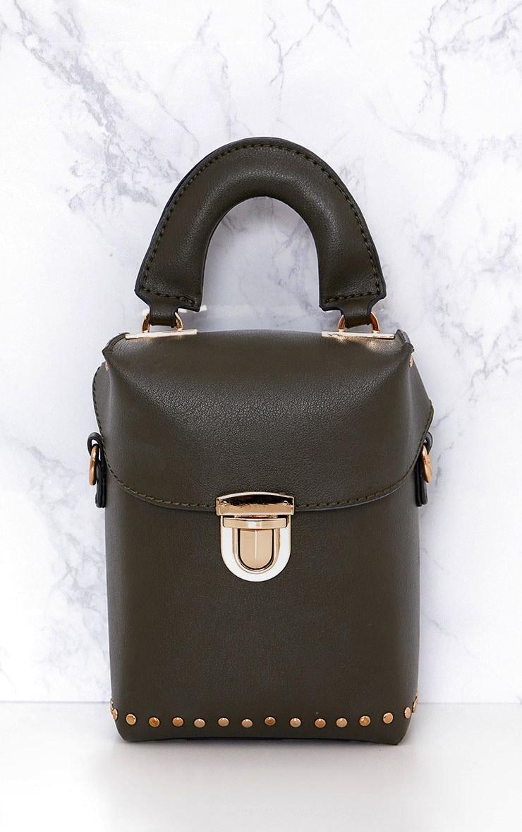 Olive Mini Handled Handbag 3