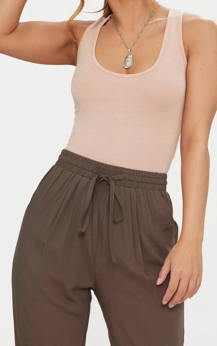 Petite Khaki Casual Pants  5