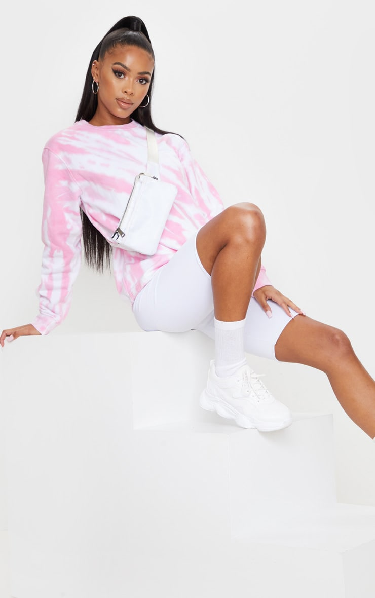 Pink Oversized Tie Dye Sweater 3