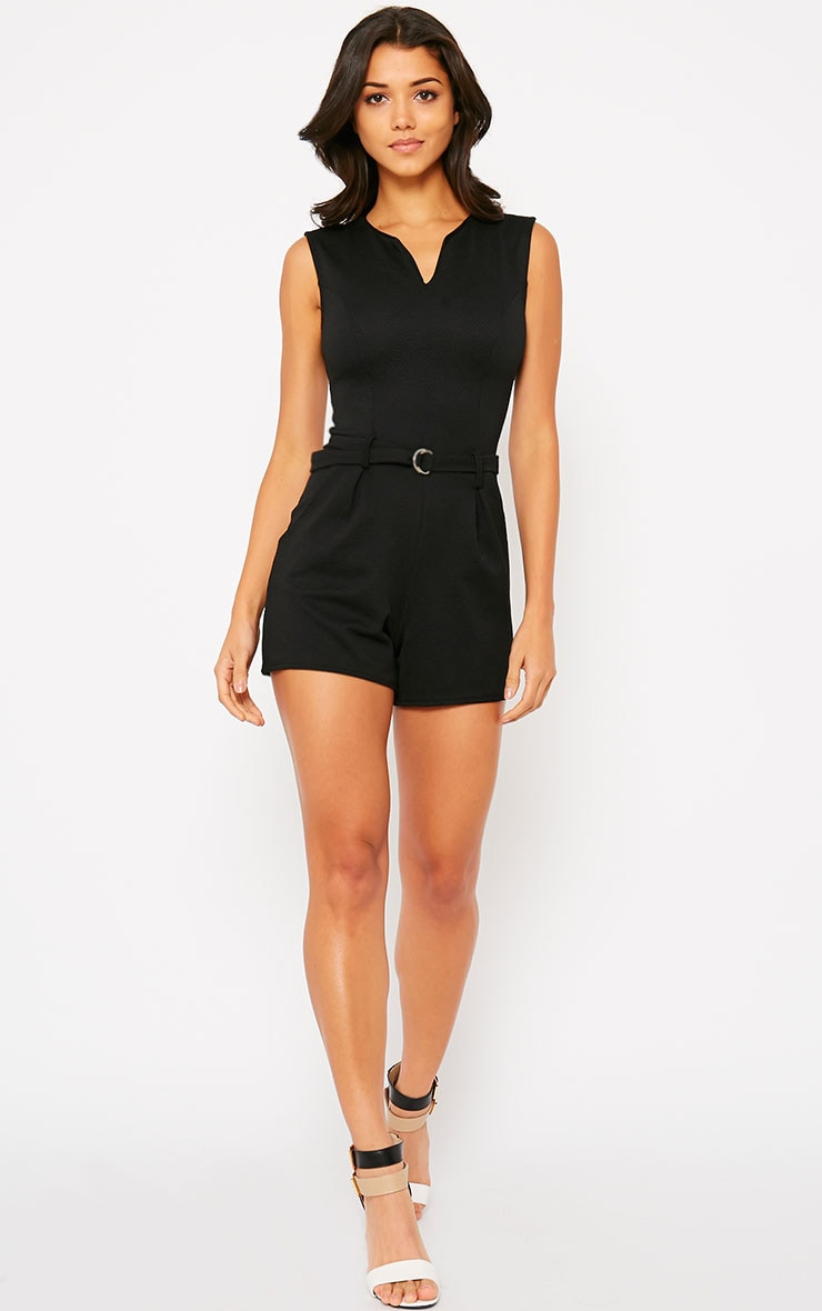Evie Black D-Ring Playsuit 5