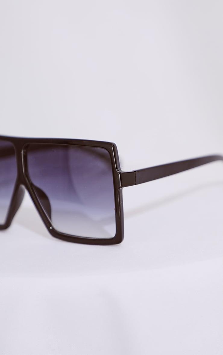 Black Gradient Oversized Sunglasses 4