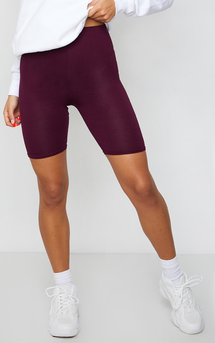 Maroon Basic Cycle Shorts 2