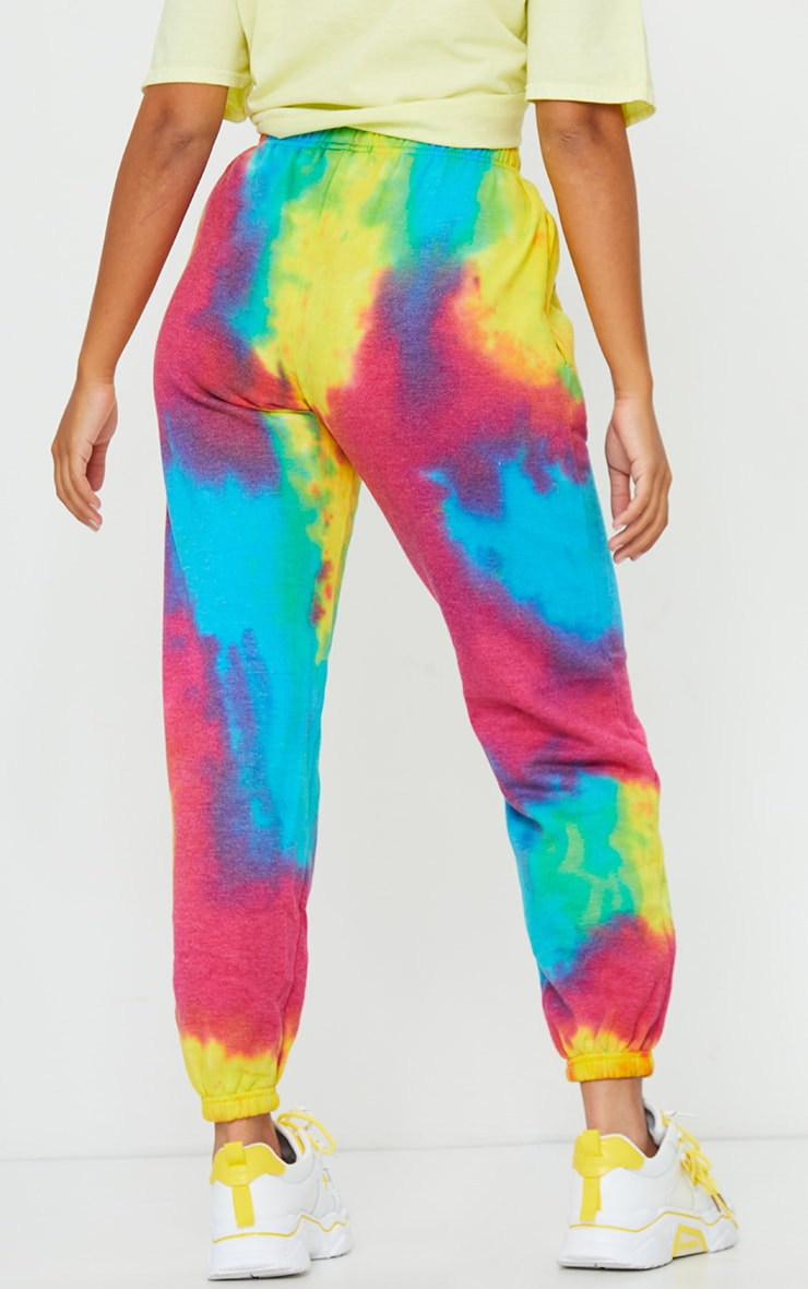Petite Multi Tie Dye Acid Wash Jogger 3