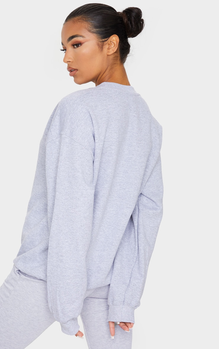 Grey Marl Ultimate Oversized Sweater 2
