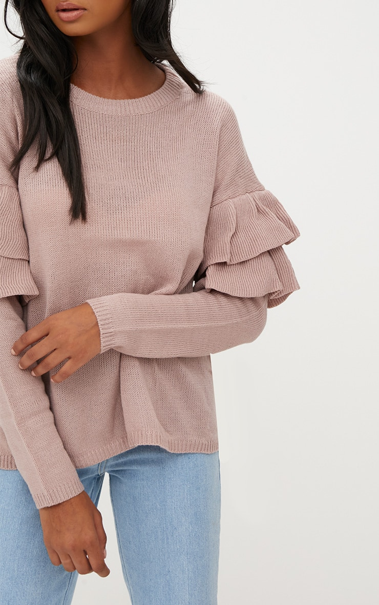 Blush Double Frill Sleeve Jumper 5