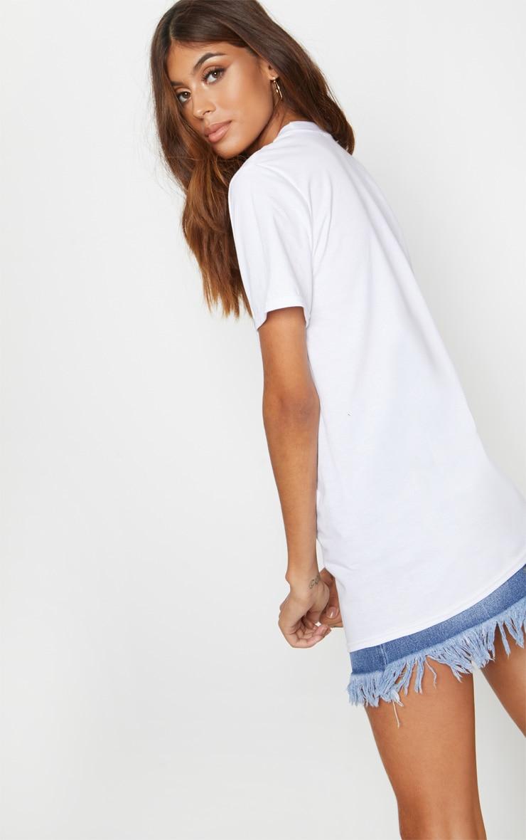 White Paris Slogan T Shirt 2