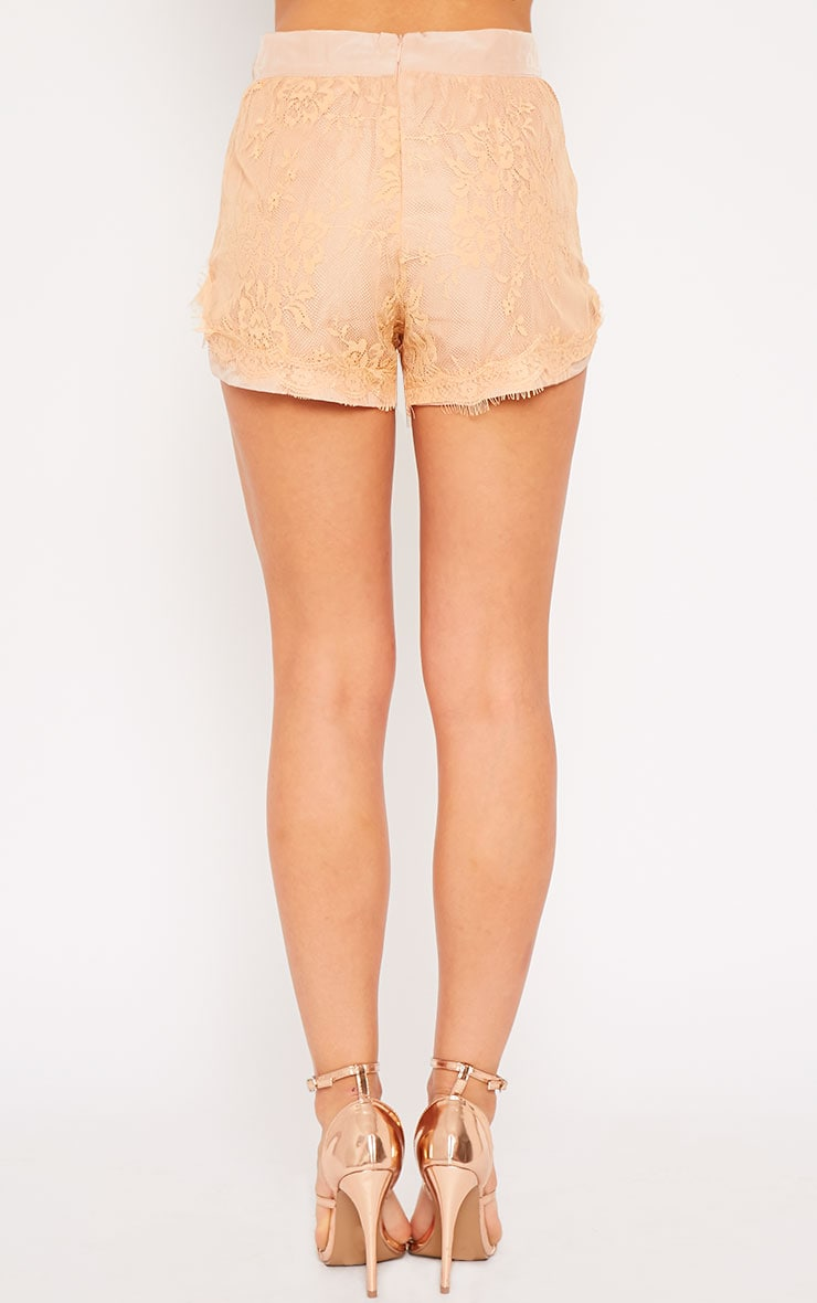 Leif Nude Lace Shorts 4