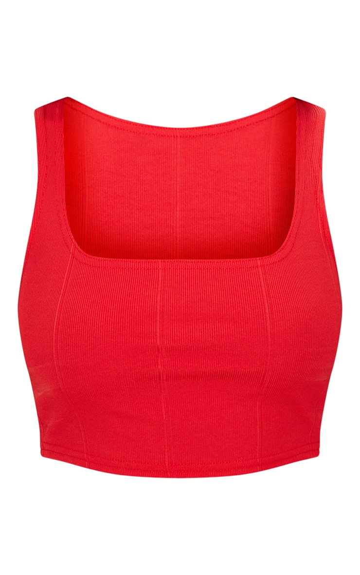 Red Bandage Crop Top 3