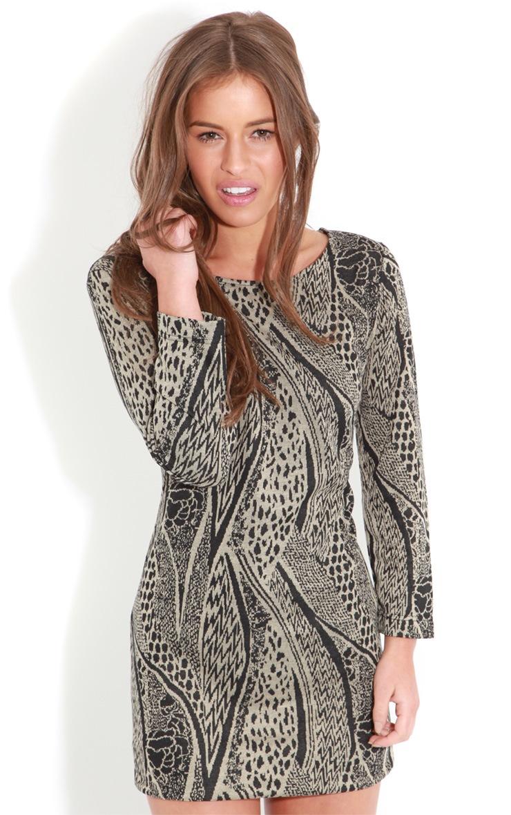 Roneet Tribal Print Dress-S 1